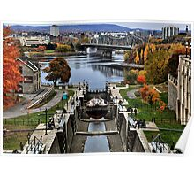 The Locks of Rideau Canal Poster