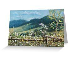 Carpathian hills Greeting Card