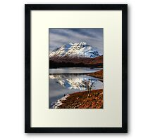 Liathach, The Tree, and Loch Clair. North West Scotland. Framed Print