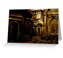 Catacombs at Highgate Cemetery (West) Greeting Card