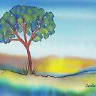 Lone Tree in Summer by Caroline  Lembke