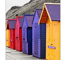 Beach Huts - (Sherringham) by MoGeoPhoto