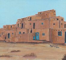 New Mexico style, Pueblo by Barbara Applegate
