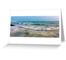 sea curve Greeting Card