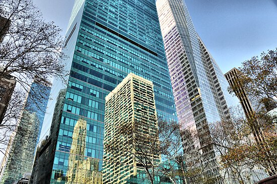 Sixth Avenue Reflections by joan warburton
