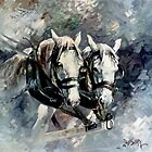 Australian Draught Horses by Pieter  Zaadstra