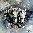Australian Draught Horses by Pieter  Zaadstra
