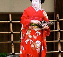 Geisha girl in Kyoto by missmarbles