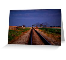 Watching The Train Come-Strasburg Railroad Greeting Card