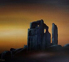 Corfe Castle by Dramamask