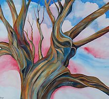 Fourth of July - the Happy Tree by rd Erickson