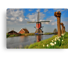 Dutch Mill in Oud Ade Canvas Print