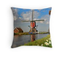 Dutch Mill in Oud Ade Throw Pillow