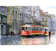 Prague Historical Tram Photographic Print
