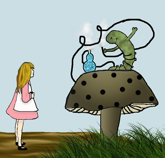 Alice and Catepillar by BCallahan
