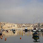 Hazy Days on Grand Harbour Malta by C.S. Lawrence