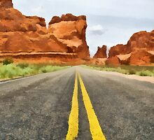 Road to Arches by Mitchell Tillison