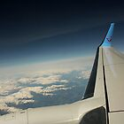 Wingview of the Alps by EHAM-spotter