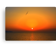 Sicilian sunset over Trapani Canvas Print