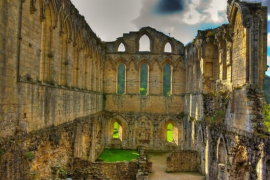 The Refectory - Rievaulx Abbey by Trevor Kersley