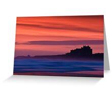 Red Dawn - Bamburgh Castle Greeting Card