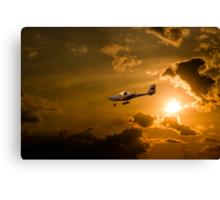 Firy Sky Landing Canvas Print