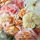 Peaches &amp; Cream Roses, Detail #1 by Suzanne Lewis