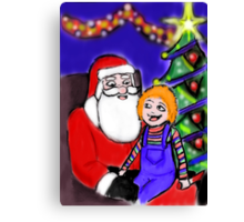He knows what he wants for Christmas Canvas Print