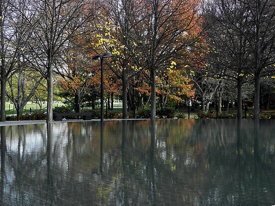 Autumnal Reflections, Korean War Memorial Pool by Robert Arconti