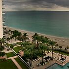 A View from my Balcony, Sunny Isles Beach Florida by Yuri Lev