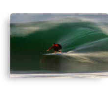 Surfing at Rincon Canvas Print