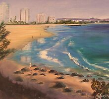 Coolangatta Beach from Greenmount by Elaine Green