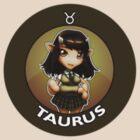 Chibi Schoolgirl Zodiac - Taurus by Julia Lichty