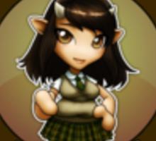 Chibi Schoolgirl Zodiac - Taurus Sticker