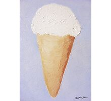 Ice Cream Cone - Second Oil Painting Photographic Print