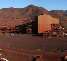 tom price iron ore mine site,panorama by dmaxwell