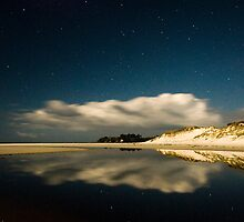 Rarawa Beach at night by Paul Mercer