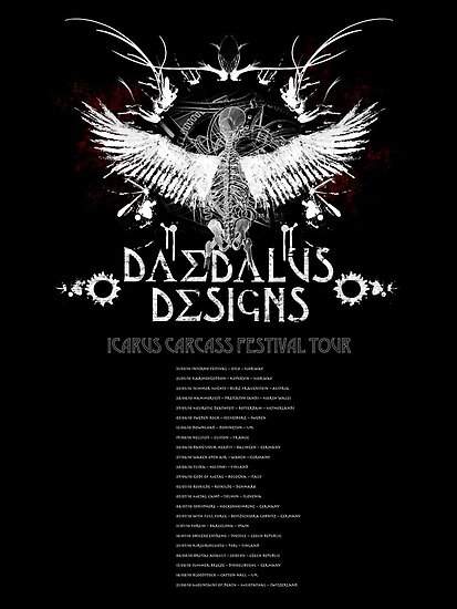 Daedalus Designs Tour Poster, all the best European metal festivals listed! by matteroftaste