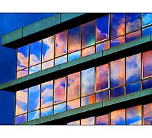 Office Block - (Evening Sunset) by MoGeoPhoto