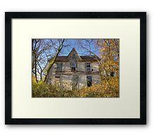 Gingerbread Abandoned House Framed Print