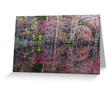 Canton, New Jersey USA Pond Peak Color Greeting Card