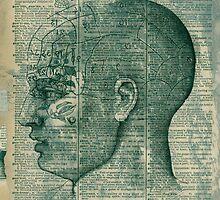 Phrenology Head by Elena Ray