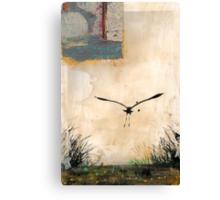 Pelican Into The Sun Canvas Print
