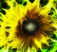 Treated Sunflower - Very Yellow - Vibrant by Ellamey
