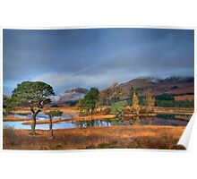 Loch Tulla autumn sunlight Poster