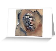 Goldeneye Trilobite Greeting Card