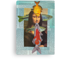fish lisa for Andy Canvas Print