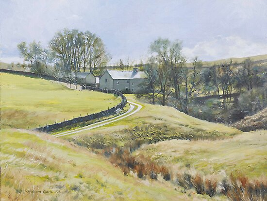 Glistening farmtrack, Hathersage by Graham Clark