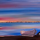 Sunset Pelican Boat by caroline ellis