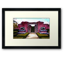 Red Wall Of Elephants Duo Framed Print